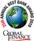 25th Annual Best Bank Award 2018. Global Finance.
