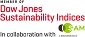 Member of Dow Jones Sustainabiliti Indices in collaboration with SAM