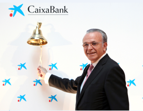 CaixaBank was floated on the stock market