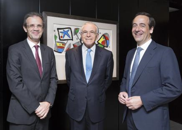 Jordi Gual, Isidro Fainé and Gonzalo Gortázar