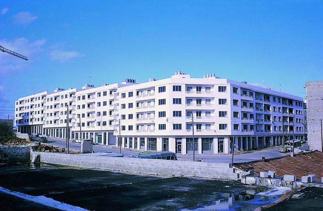 """la Caixa"" social housing promotions in Maó in the 1960s."