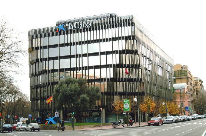 """la Caixa"" headquarters in Madrid."
