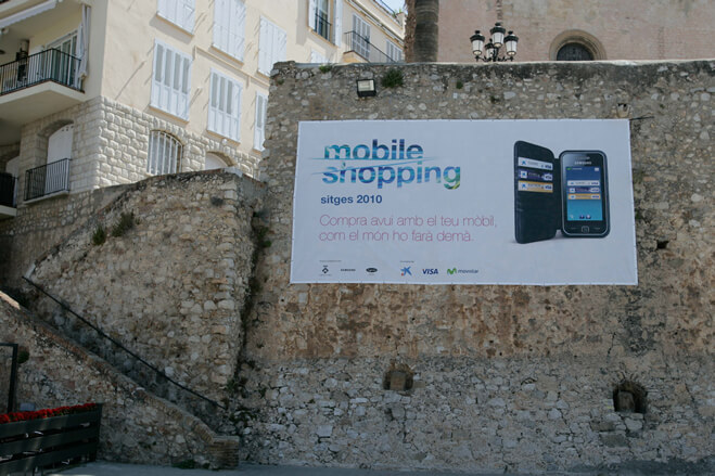 First pilot test for payments using mobile phones in Sitges